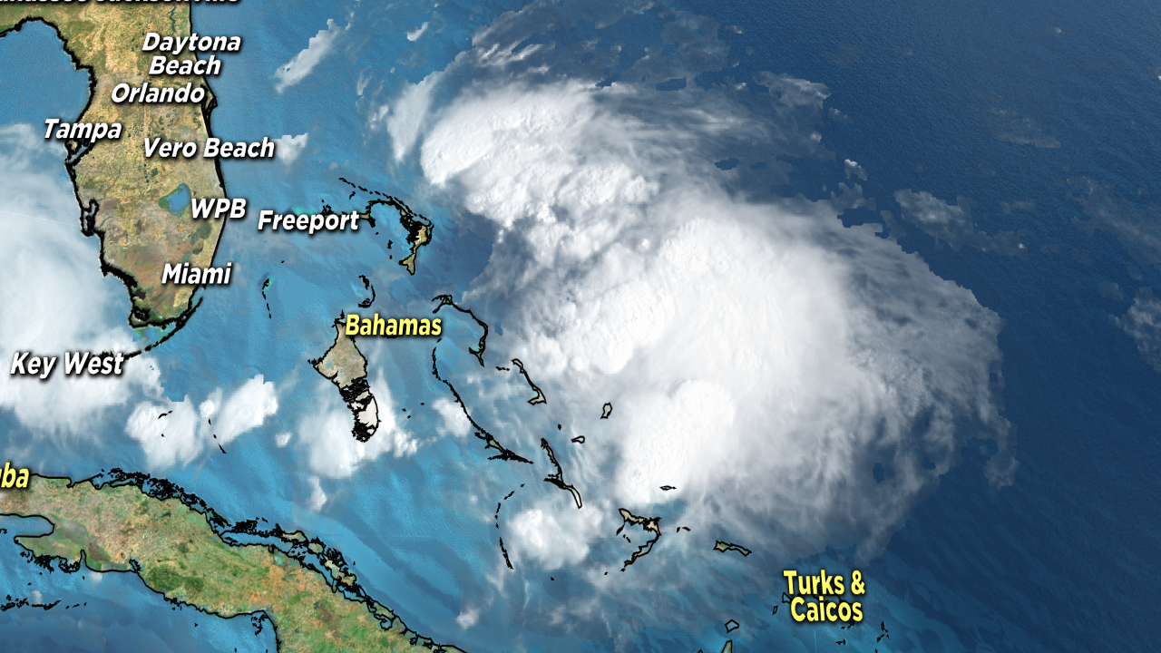 Tropical Storm Humberto brings 40 mph winds, torrential rains to the Bahamas