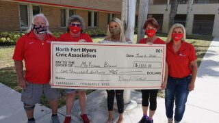 North Fort Myers Civic Association with scholarship recipient #1