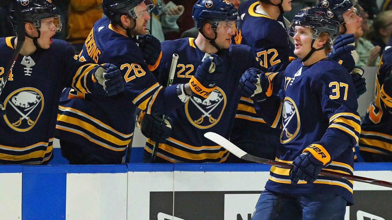 Casey Mittelstadt scores his eighth of the year in Sabres win