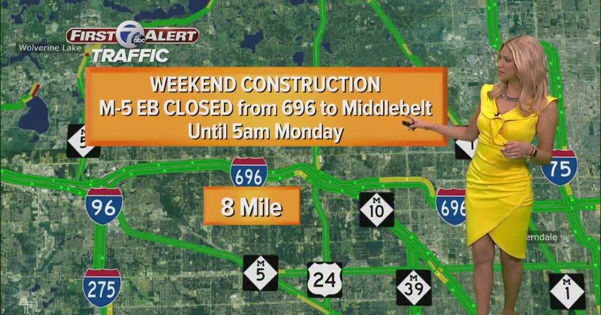 Metro Detroit weekend construction: I-75, I-94 and 696 closures