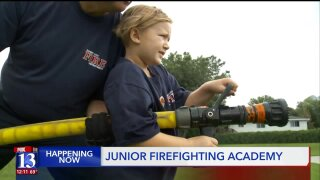It's graduation day at Sandy's Junior Firefighter Academy