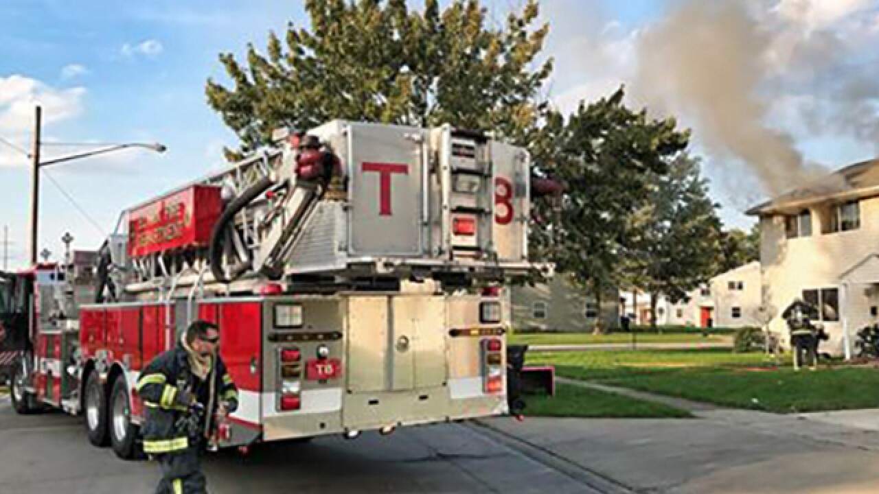 Elyria house fire displaces family of five