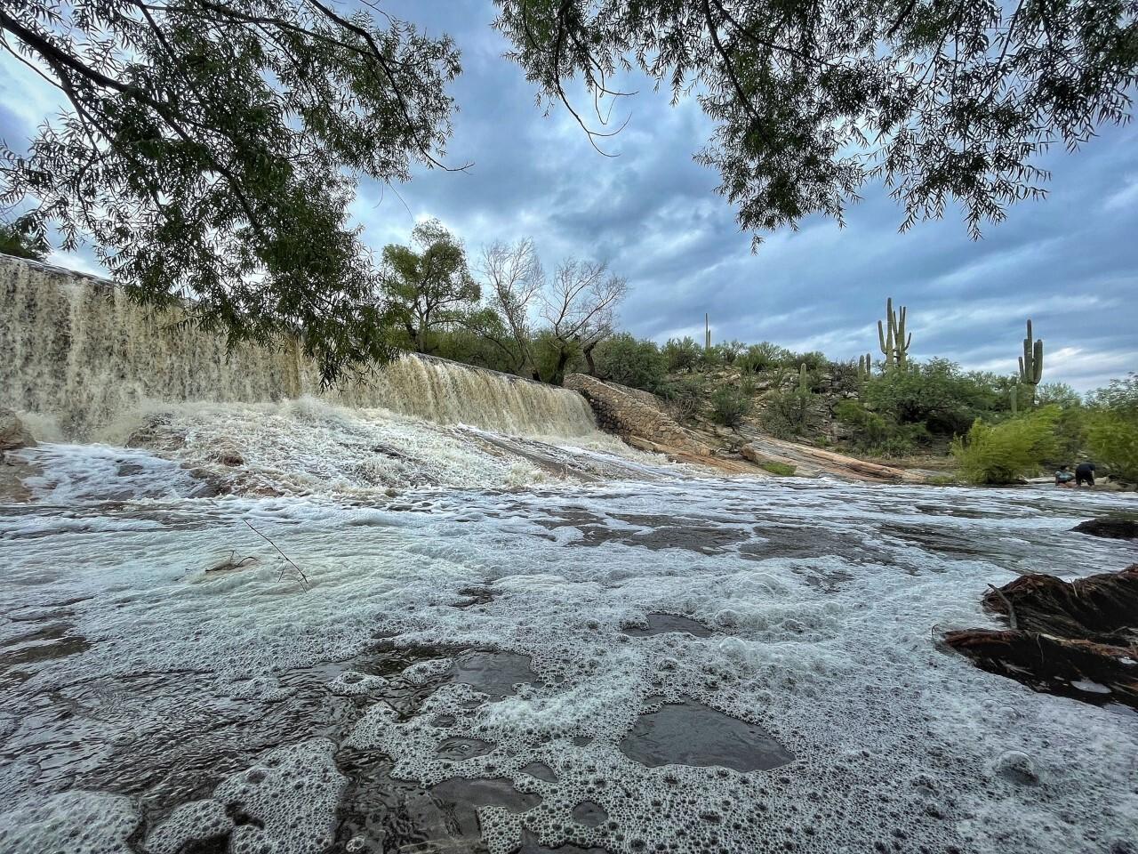 Sabino Canyon area during monsoon 2021