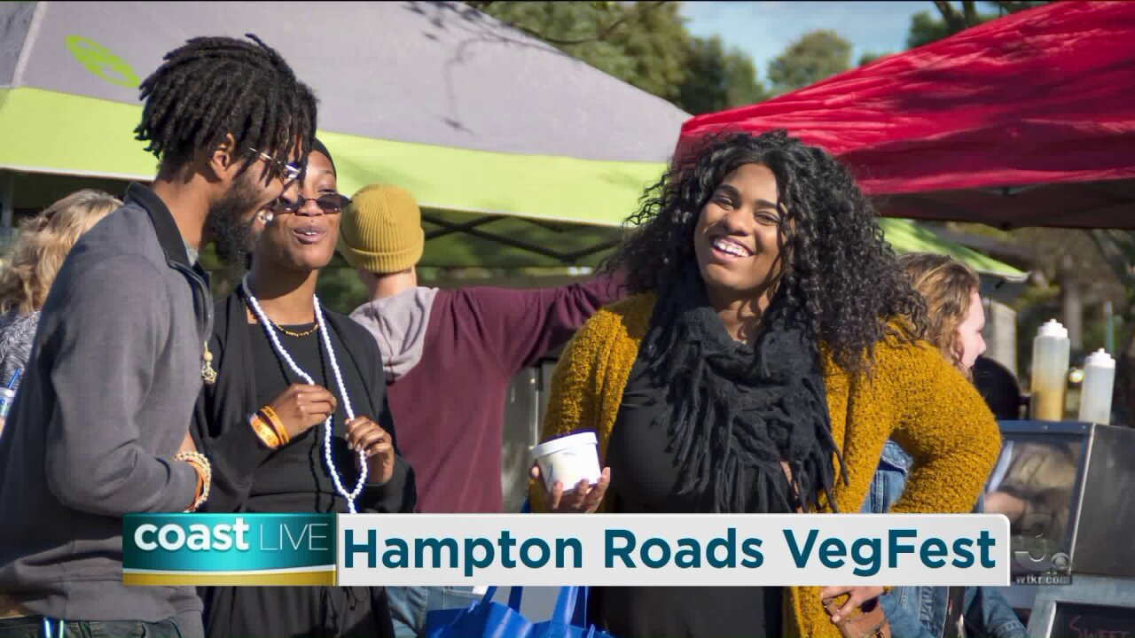 Sampling some vegan treats to get ready for Hampton Roads VegFest on CoastLive