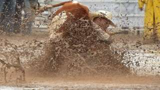 Mud doesn't slow Frontier Days Rodeo