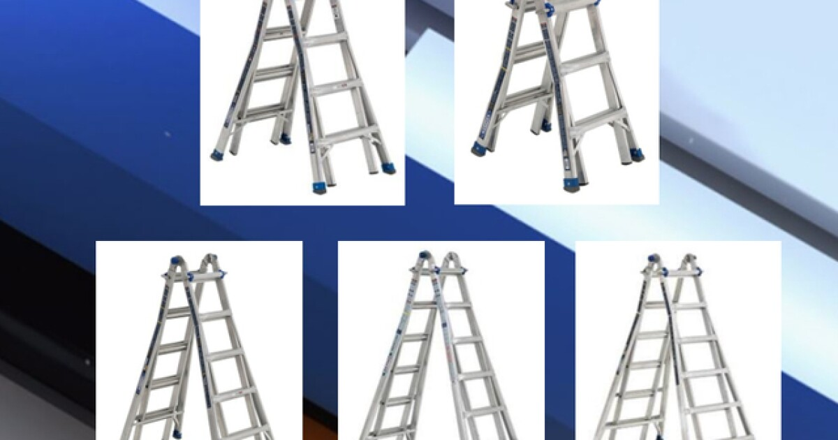 78,000 ladders sold at Home Depot and Lowe's recalled due to