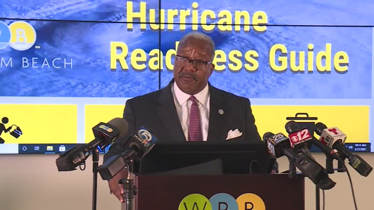 West Palm Beach Mayor Keith James holds a news conference on May 27, 2021.jpg
