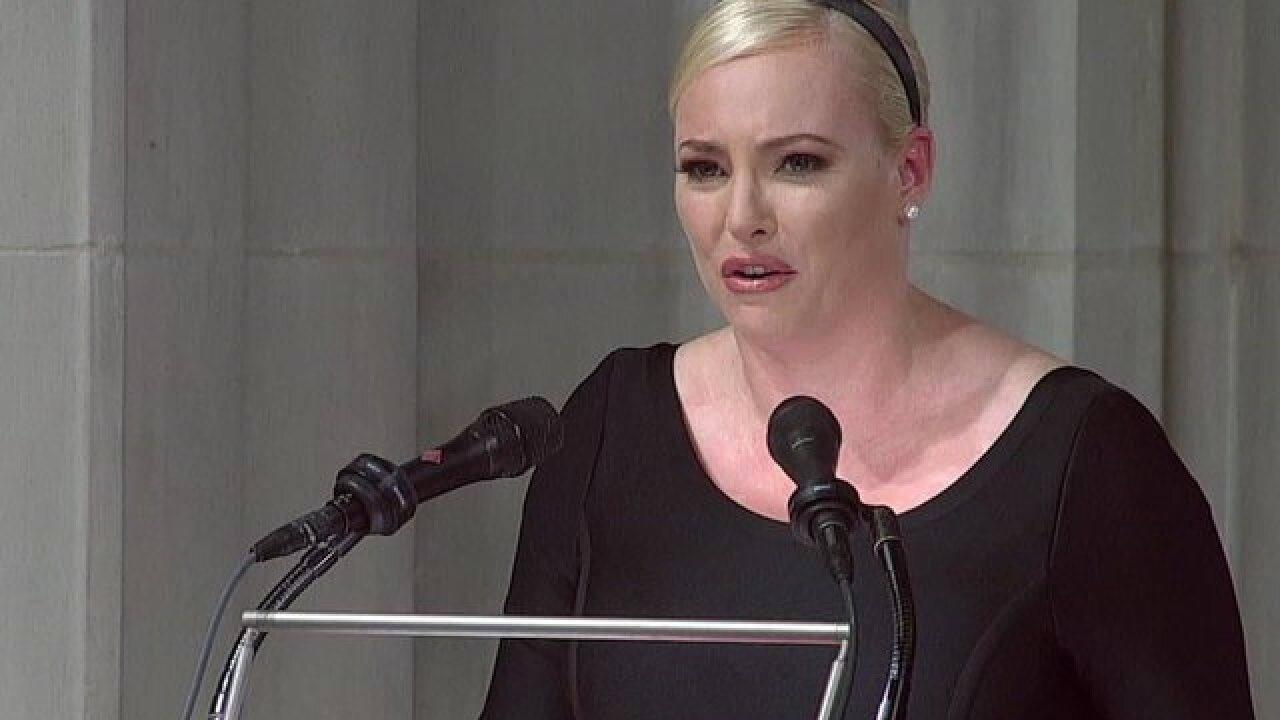 Meghan McCain makes emotional return to 'The View' following father's death