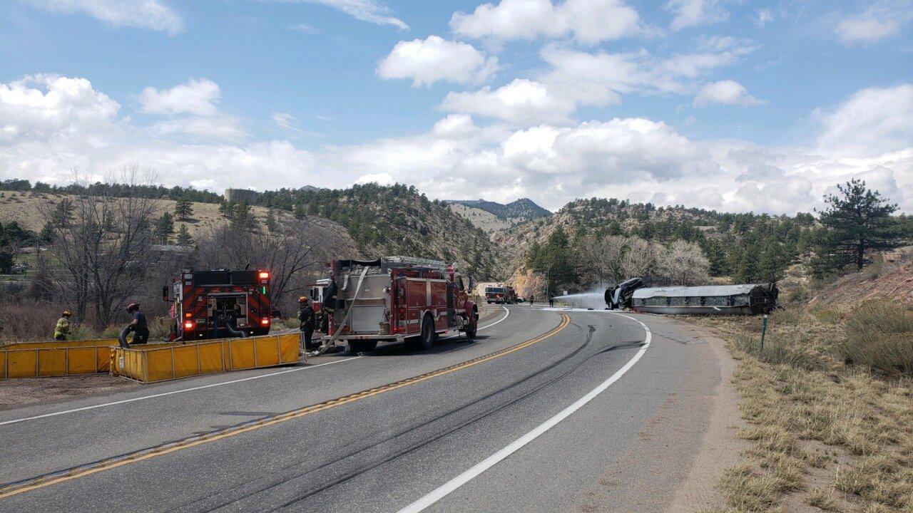 Tanker truck crash on US 36_April 27 2021