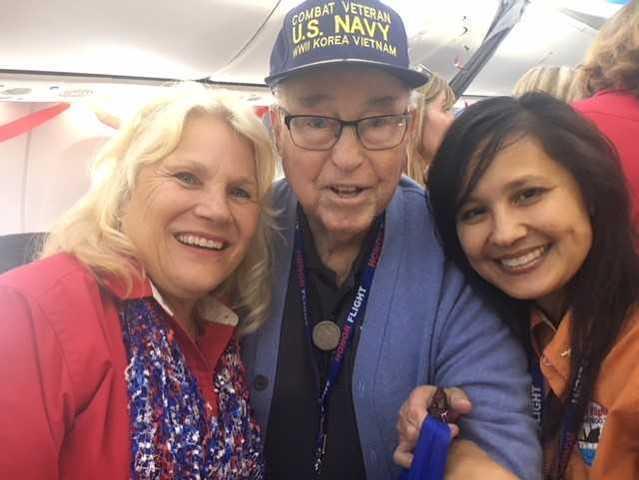 GALLERY: San Diego military veterans board Honor Flight to Washington, DC
