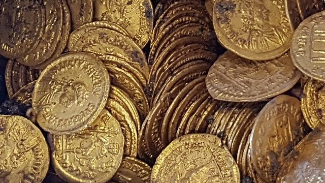 Roman gold coins found in basement of theater