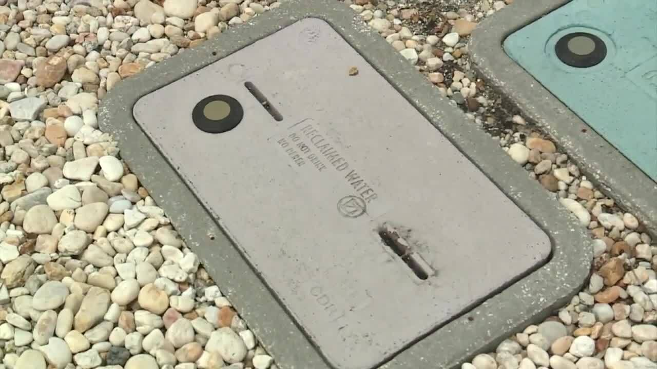 reclaimed water meter cover in Delray Beach