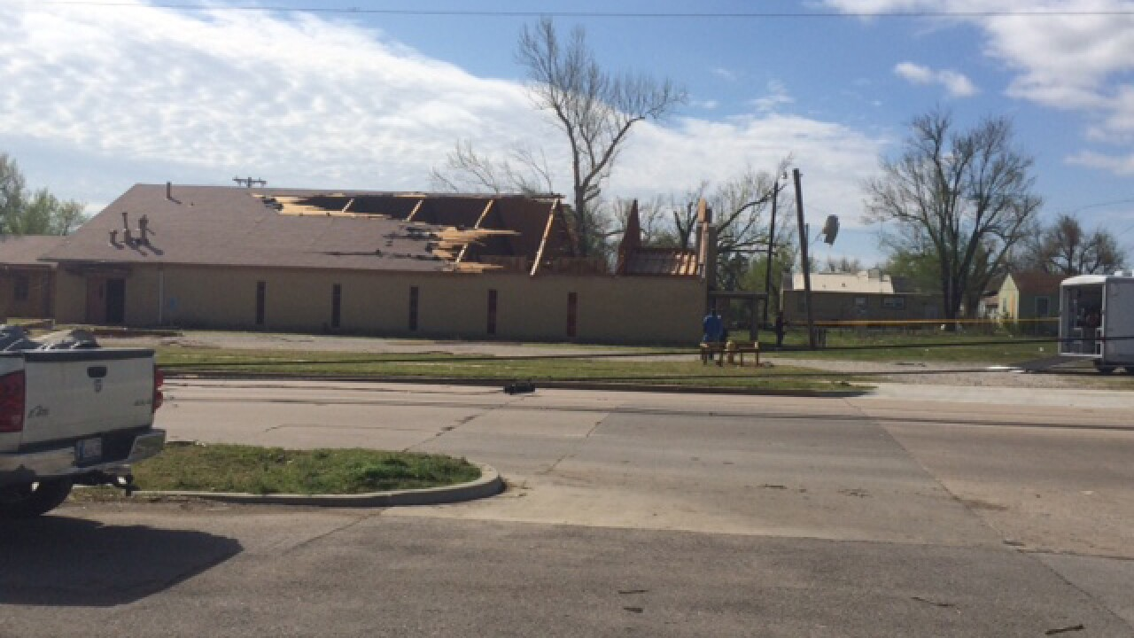 Homes, structures damaged after Okla. tornado