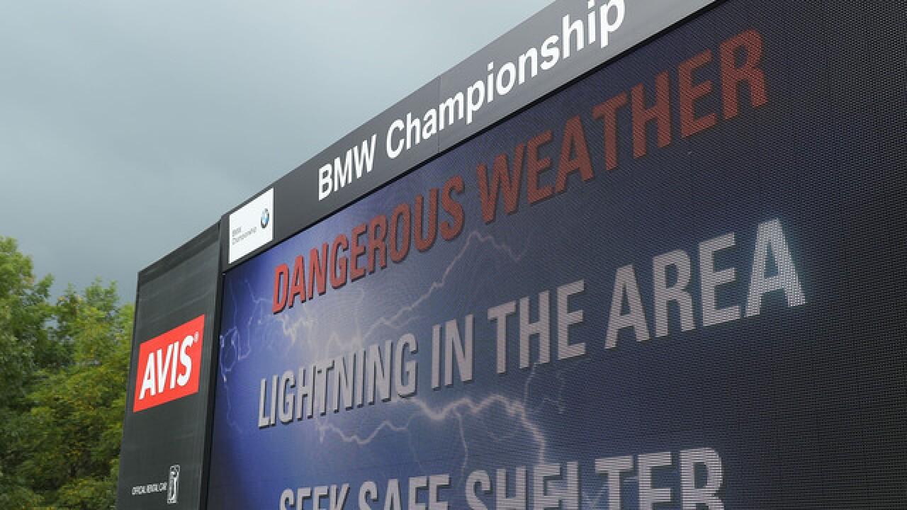 PICS: Rain interrupts Day 1 of BMW Championship