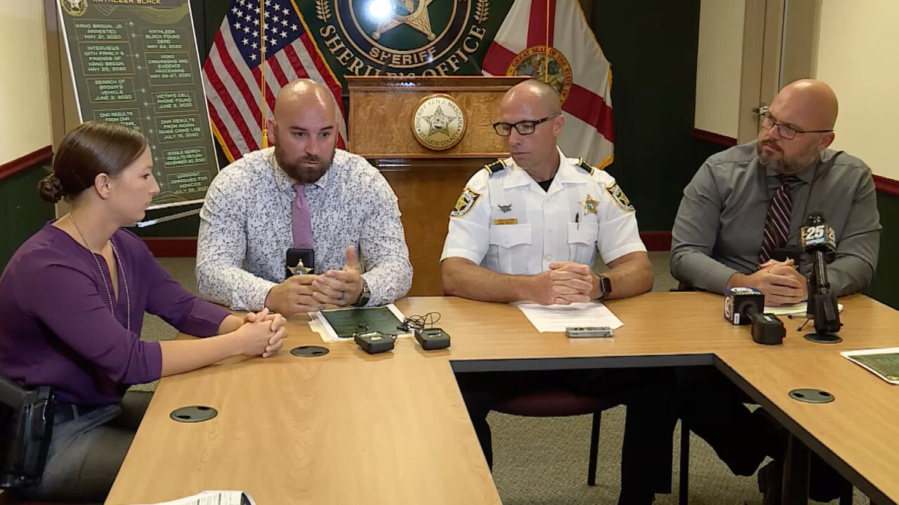St. Lucie County Sheriff's Office holds discussion on Kano Brown murder arrest on July 28, 2021