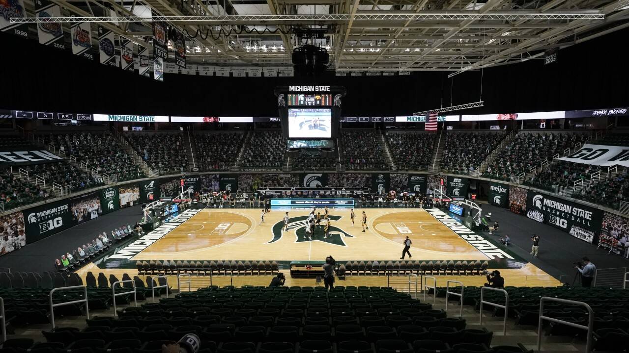 Breslin Center Iowa Michigan St Basketball