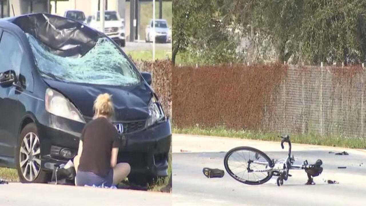 Police: 1 cyclist dead, 1 critical after car hits 14 bikers in Davie