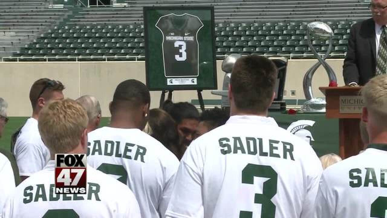 Former MSU punter honored