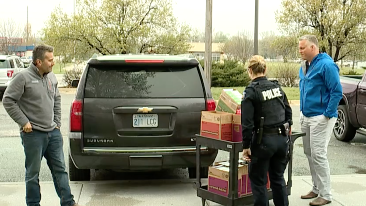 Olathe police Girl Scout cookies