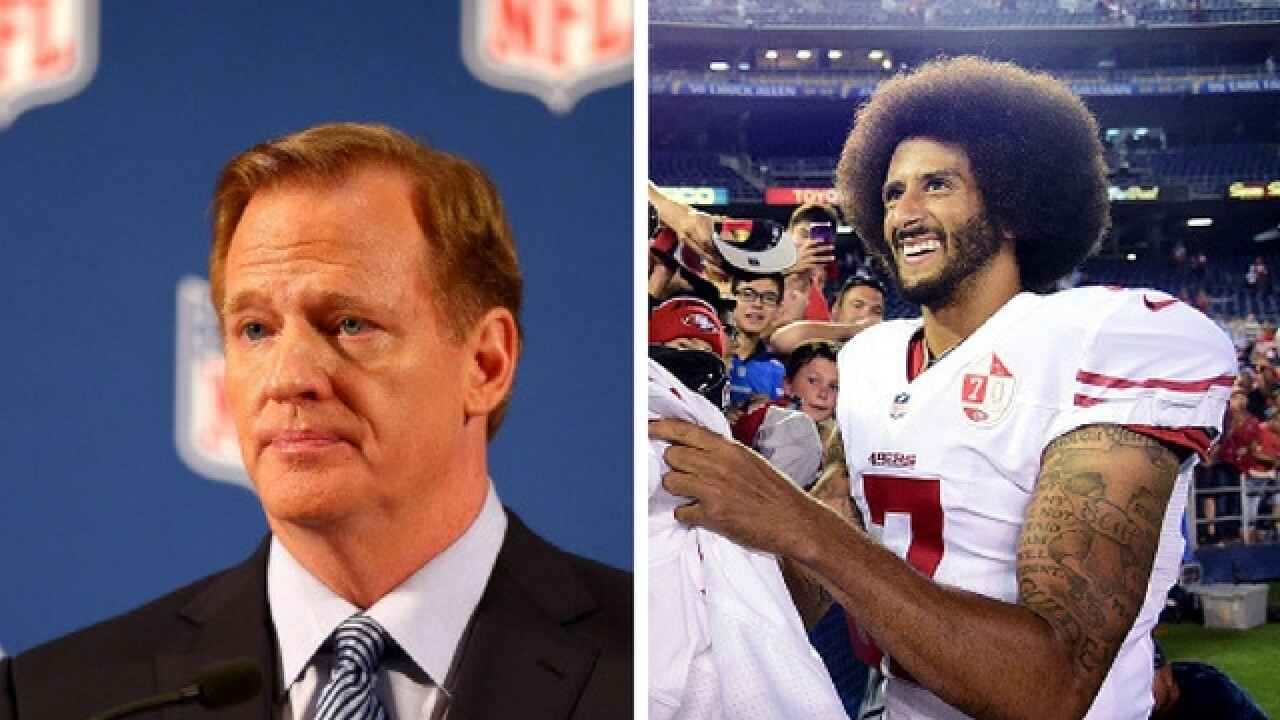 Goodell on Kaepernick: 'I don't necessarily agree with what he is doing'