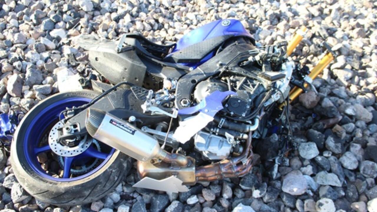 Henderson motorcyclist dies in crash
