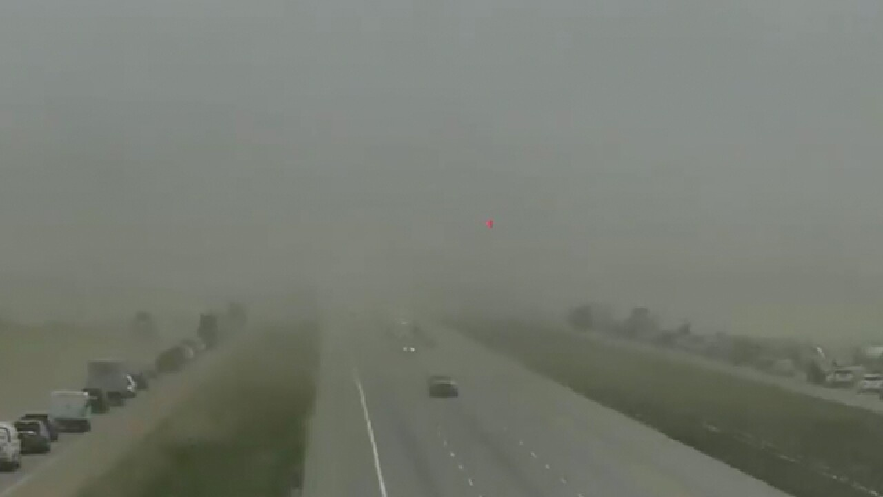 High wind, low visibility close Colo. highways