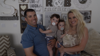 Twins spend first Father's Day at home with dad