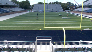 Photos: LOOK: Crews install turf field at ODU football's new S.B. Ballard Stadium