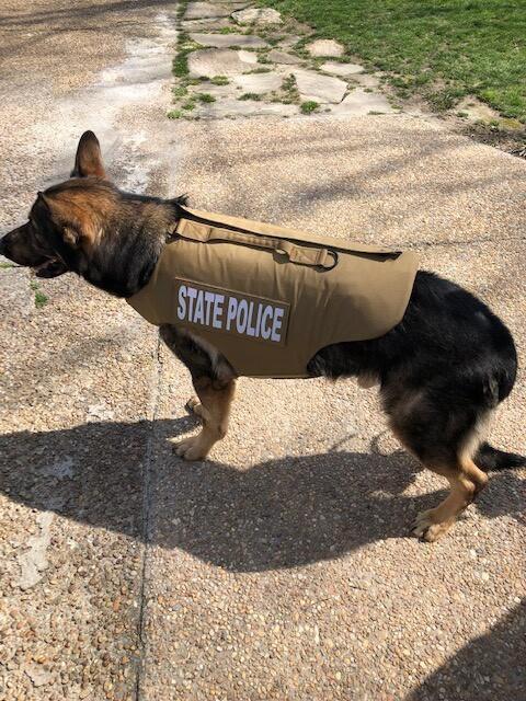 Photos: Virginia State Police K9 receives donated bodyarmor