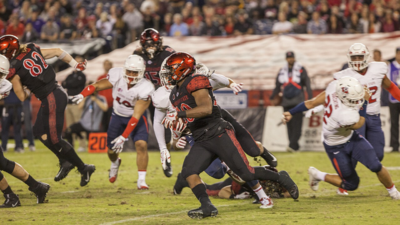 SDSU sets school rushing record in 52-7 win over San Jose State