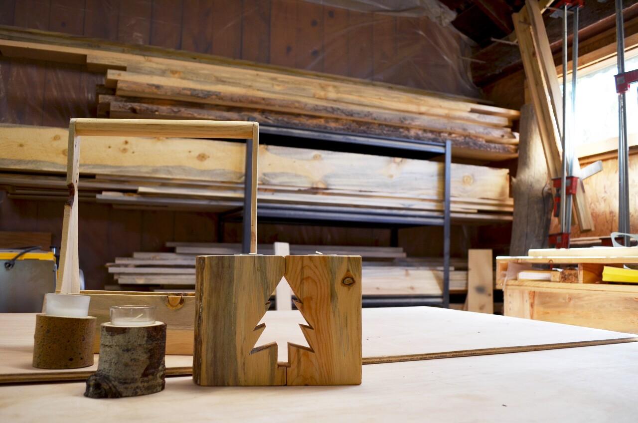 Beetle-kill trees used for furniture_Alpine Blue Home 2
