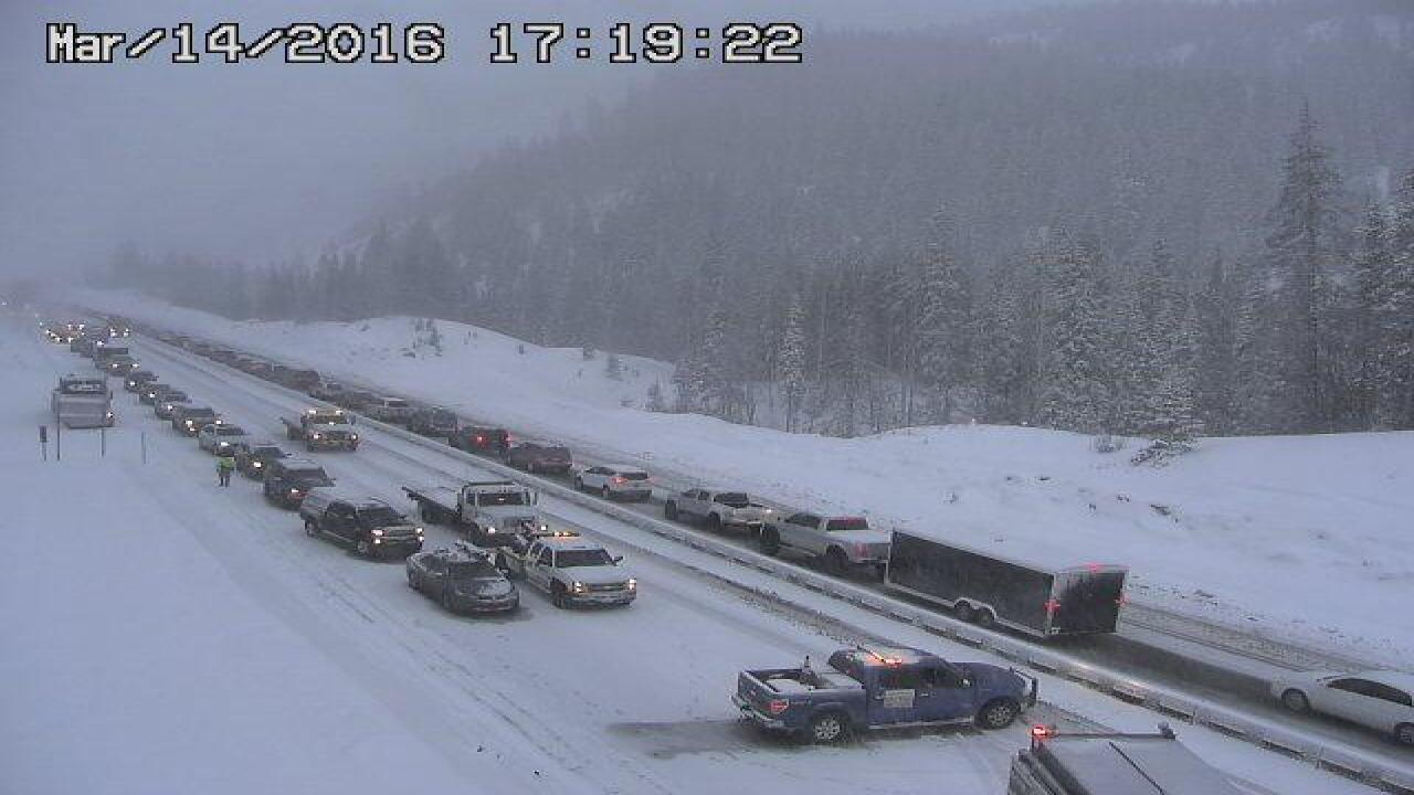 EB I-70 closed at Vail due to accidents