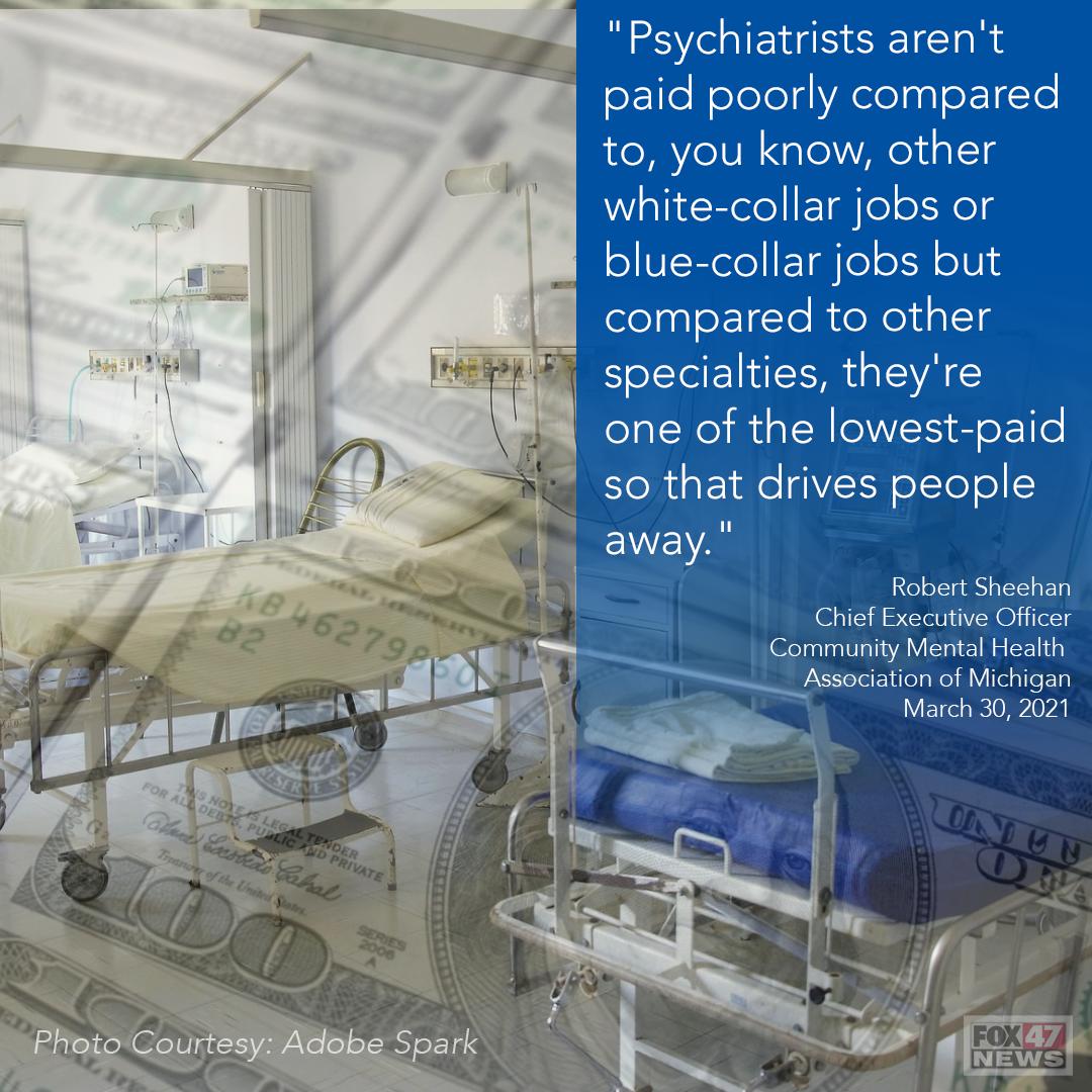 Robert Sheehan on the Psychiatrist Shortage