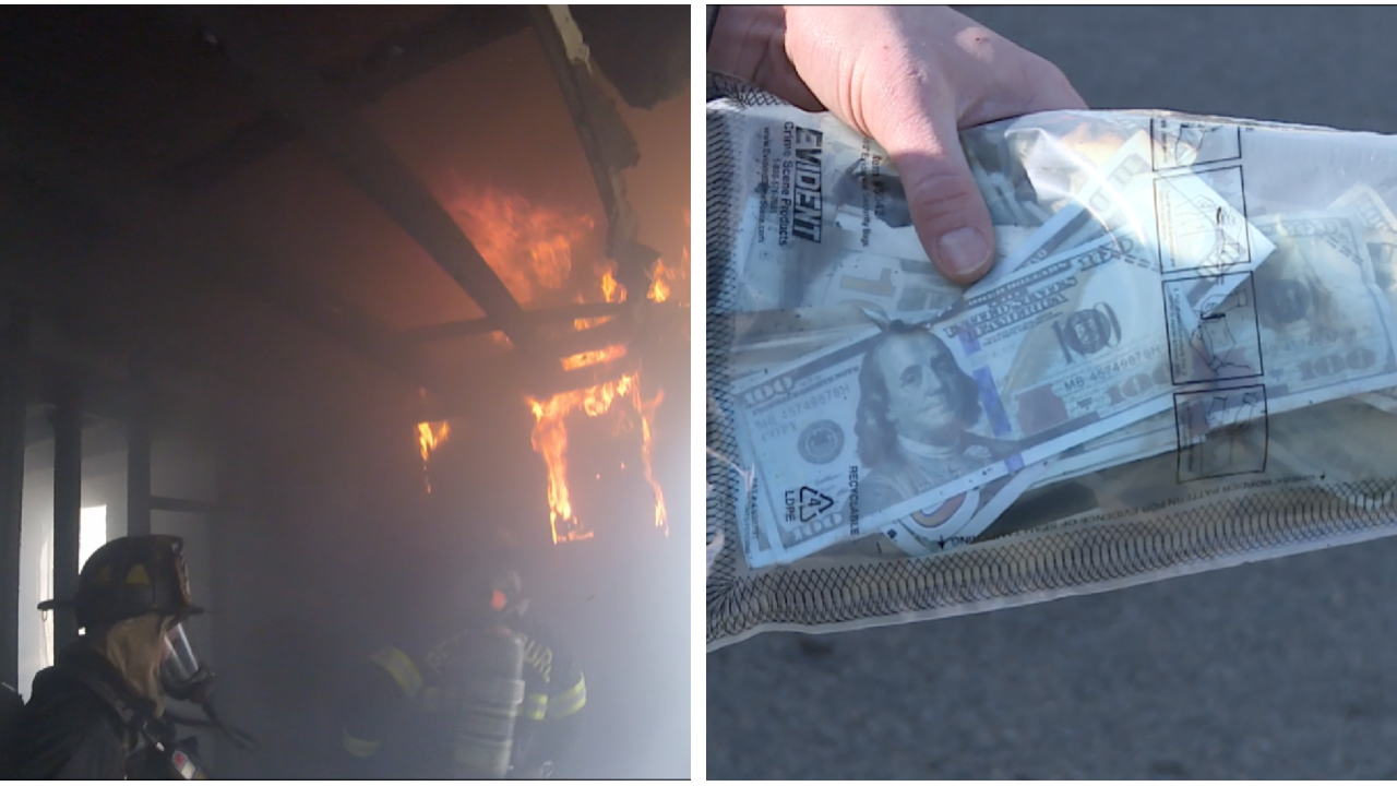 Prop bills found inside burning Petersburghome