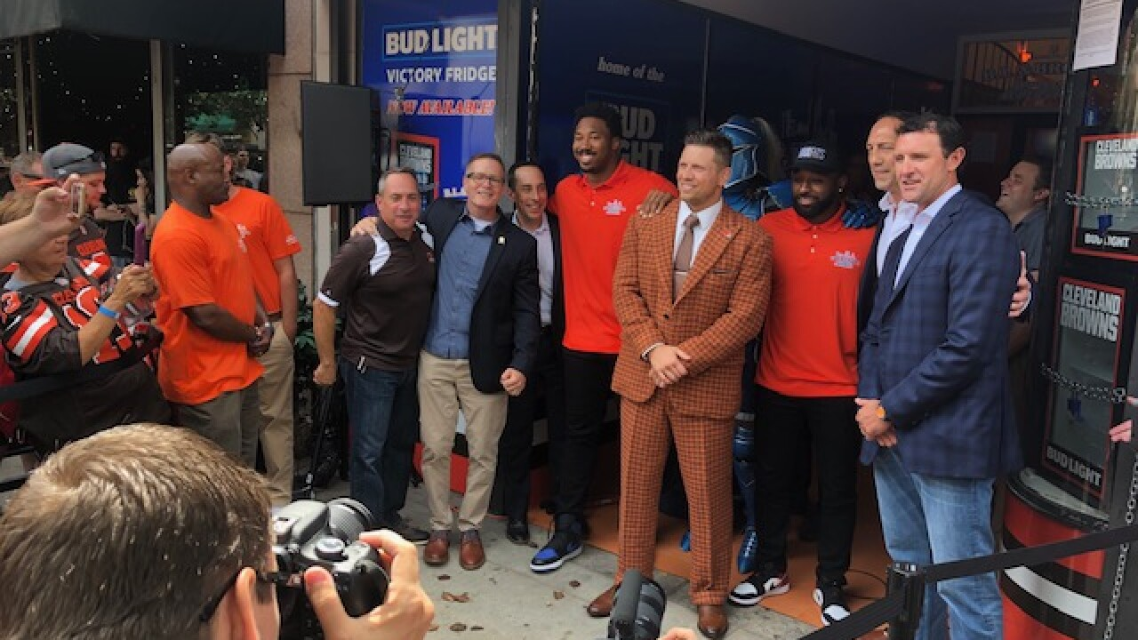 Bud Light Browns Victory Fridge