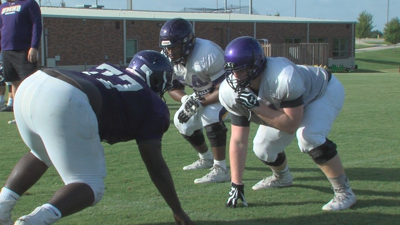 Cru football puts on pads for camp