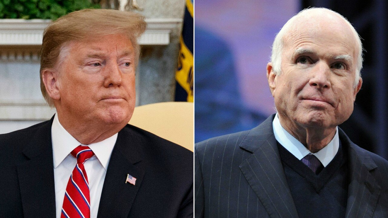 Trump complains he didn't get a 'thank you' for McCain's funeral