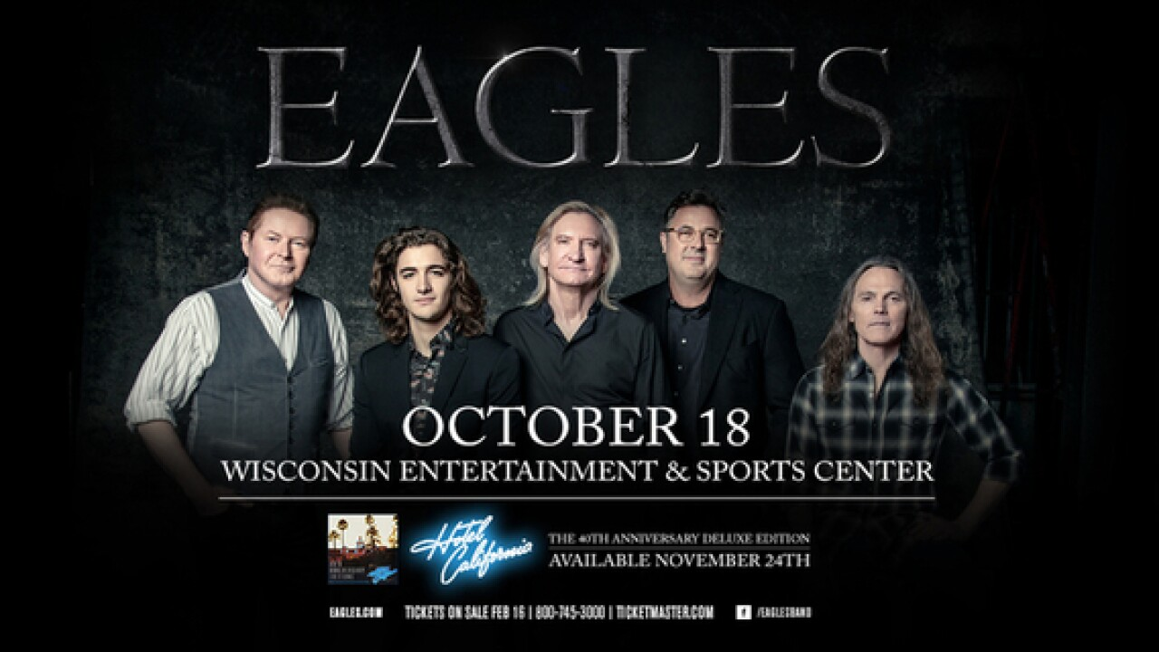 The Eagles schedule show at new Bucks arena