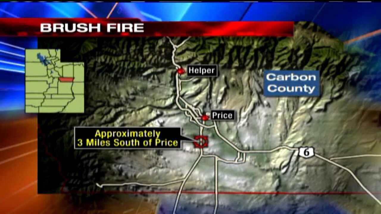 Fire near Price contained, no homes damaged