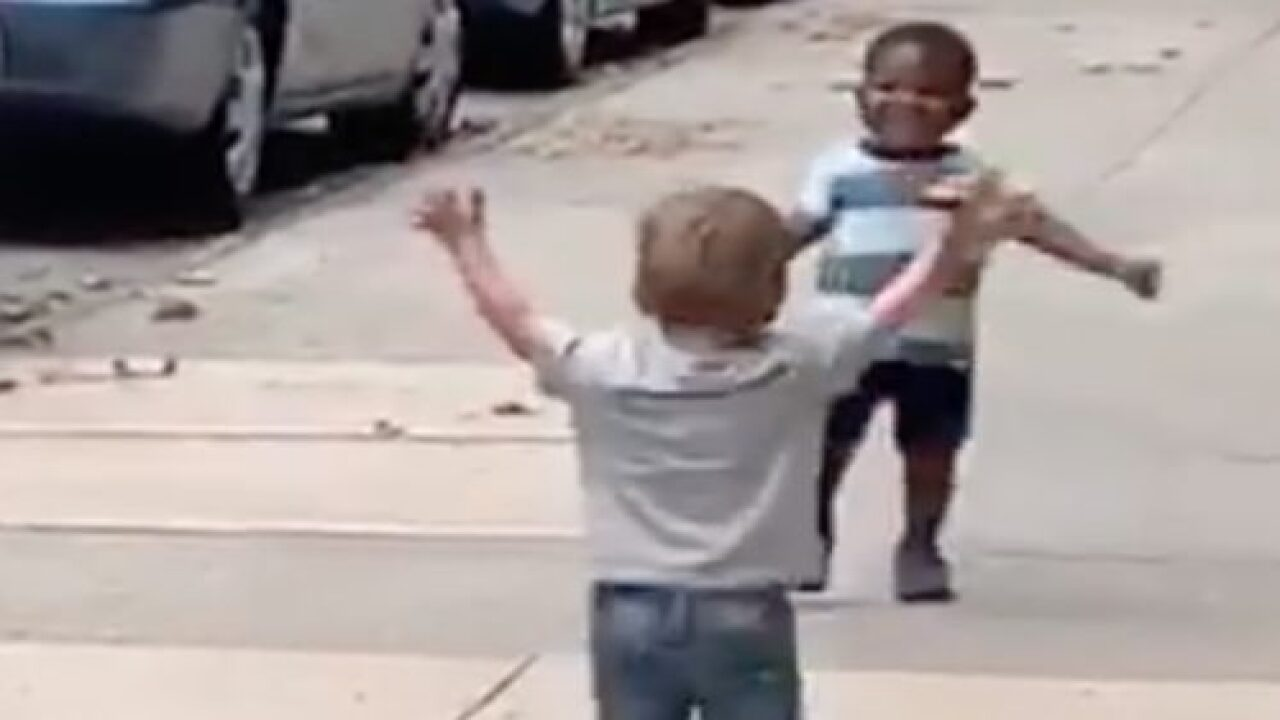 This Adorable Viral Video Shows Two Toddler Best Friends Running To Hug Each Other