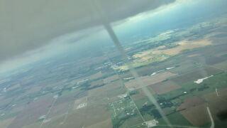 Funnel cloud in western Oklahoma