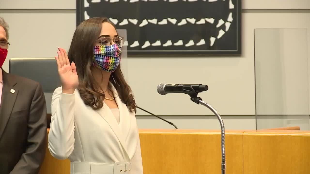 Alexandria Ayala sworn in as Palm Beach County School Board member, Nov. 17, 2020