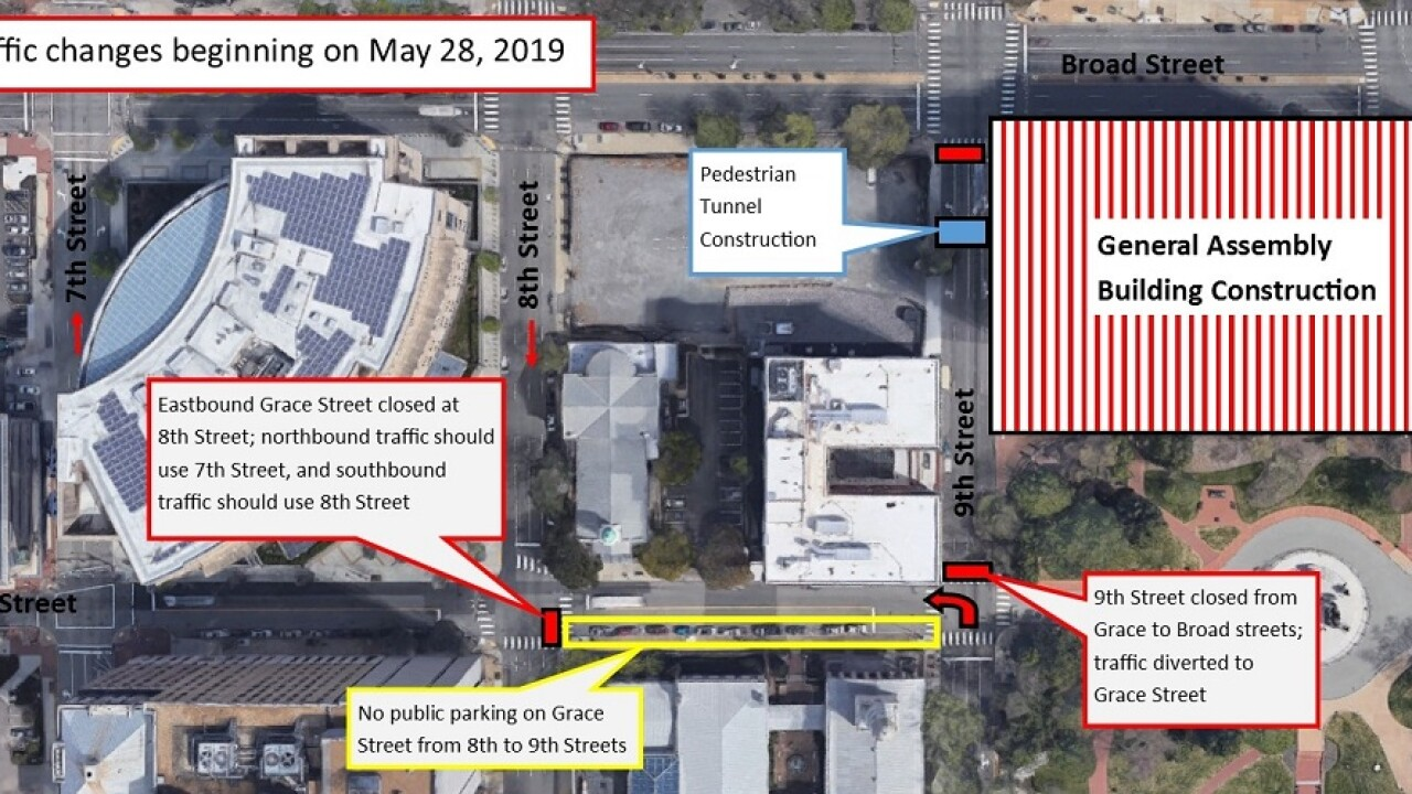 Construction closes portion of 9th street downtown through the end of June