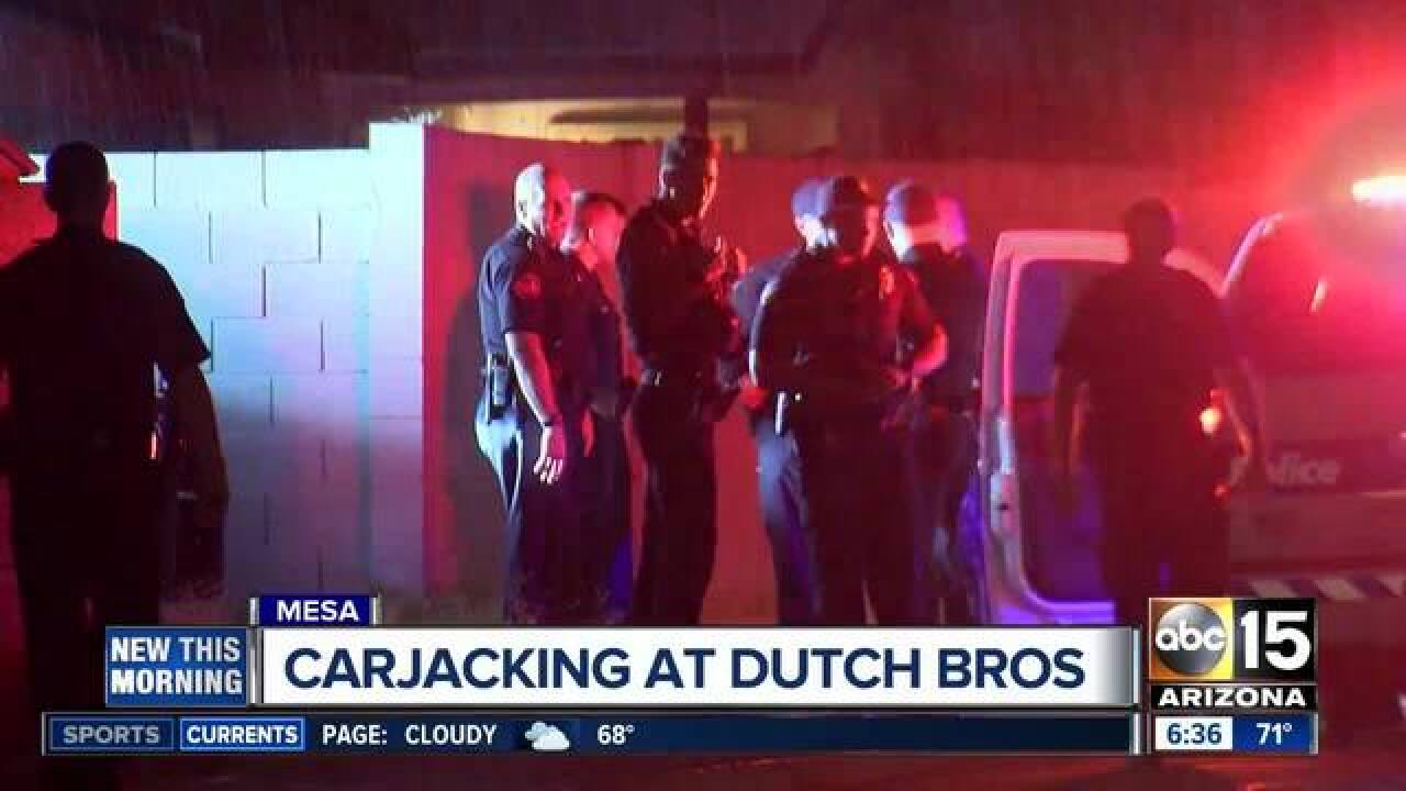 Mesa Dutch Bros. carjacking turns into pursuit
