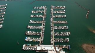 boats at Lake Mead