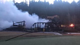 Big Fork golf club fire