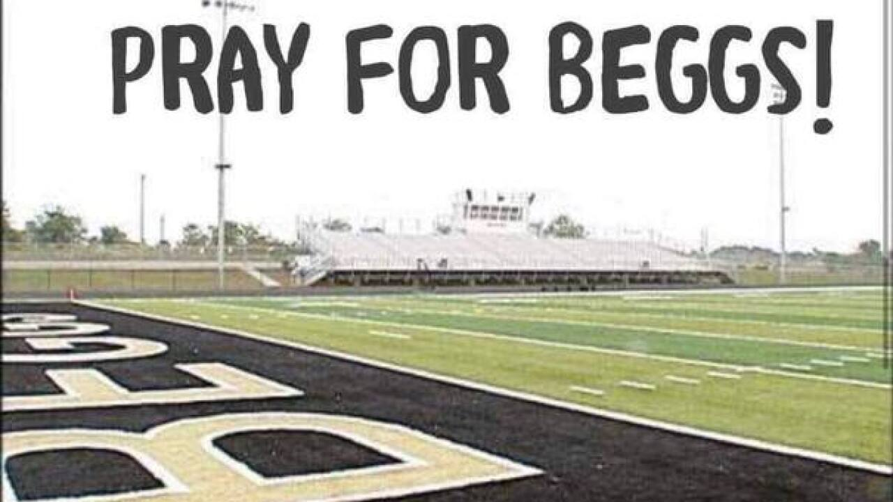 Sperry football fans support opponent after Beggs player is killed