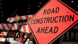 Road work slows traffic on Truxtun Avenue