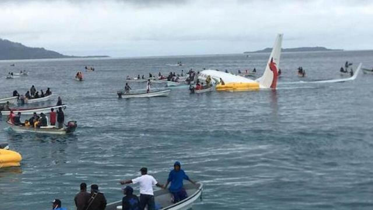 Aircraft misses runway and ends up in sea; everyone survives