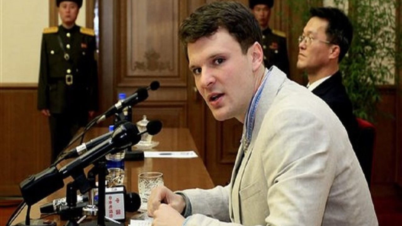 North Korea presents detained American to media
